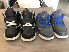 (2) Nike Air Jordans Flight Childrens 599932-015 599903-022 Children's 6C Retro