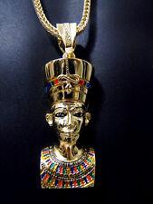 Hip Hop Iced Out Chunky King Tut Pharoah Egyptian Pendant ONLY