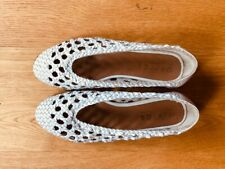 OFFICE white woven shoes - WORN ONCE UK 38