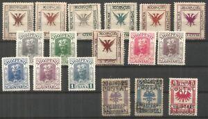 Albania, good mint range, set 3