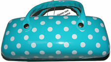 BLUE POLKA DOT HARD GLASSES / SPECTACLE PROTECTIVE CASE - NEW