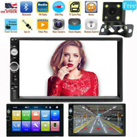 7'' HD 2Din Touch Screen Car Stereo MP5 Player Radio Android IOS USB TF + Camera