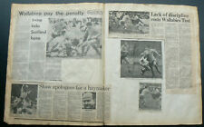 RUGBY UNION 1981-82 Vintage Newspaper Cuttings Wallabies Australia All Blacks NZ