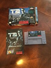 T2 Judgment Day Terminator 2 Super Nintendo Snes Cib Game With Manual TESTED NG4