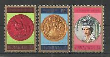 BERMUDA 1978 25TH ANNIV CORONATION SG,384-386 U/M NH LOT 3012A