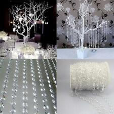 33FT Garland Diamond Strand Acrylic Crystal Bead Curtain  DIY WeddingParty Decor