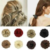 Women Wigs Trend Fluffy Ball Curly Hairstyle Rubber Band Hair Ring Buns Decor