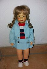 Krahmer Puppe Mädchen mit Holzkopf -TOP-