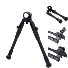 Adjustable 9'' Tactical Hunting Rifle Picatinny Swivel Stud Mount Bipod for Gun
