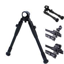 Adjustable 9'' Tactical Hunting Rifle Picatinny Swivel Stud Mount Bipod for Gun