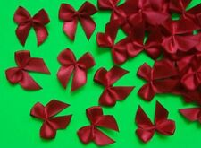 "Lots 50pcs Red Satin Ribbon Bows Christmas Appliques DIY-1-1/8"" (W)-R0026R"