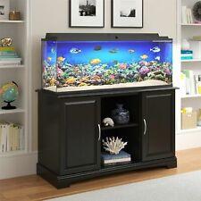 Aquarium Stand 75-Gal Fish Tank Display Shelf 2-Door Cabinet Storage Furniture