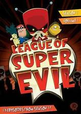 #5 LEAGUE OF SUPER EVIL Season 1 Vol. 1 New Sealed Cartoon DVD FREE Set SHIPPING