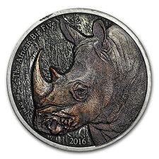 2016 Burkina Faso 1 oz Silver African Big Five (Rhinoceros) - SKU #132472