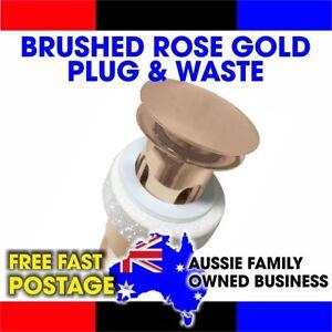 BASIN POP UP PLUG AND WASTE BRUSHED ROSE GOLD