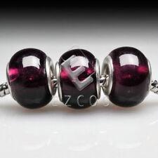 5pcs Murano Glass European Lampwork Beads Charm fit bracelet necklace LB0047