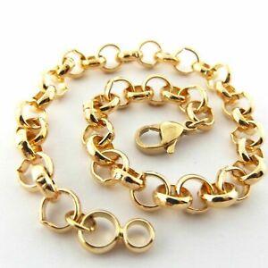 """18ct 18k  """"Gold Filled"""" Unisex Rolo Belcher Bracelet Baby - Adult All Sizes. Uk"""