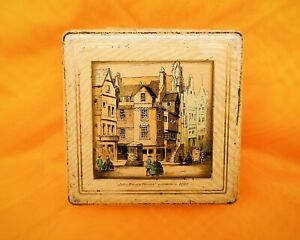 Vintage Biscuit Tin/Advertising-Mcvities Sample Tin-John Knox House-Edinburgh