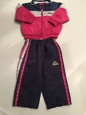 Lonsdale Tracksuit Trousers Jacket Top Girls 6-12 Month <N129