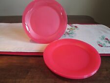 Tupperware LOT 4 OPEN House Floresta  dessert  Plates  CRUSHED RASPBERRY