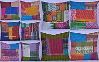 10 Pc Wholesale Lot Patchwork Silk Cushion Cover Ethnic Pillow Case Bohemian Art
