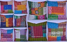 10 Pc Wholesale Lot Patchwork Silk Cushion Cover Ethnic Pillow Case Bohemian Art