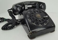 Western Electric Bell System Black Rotary Dial Phone Telephone Poor Condition
