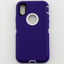 For Apple iPhone XS / X Defender Case Cover w/ Belt Clip fits Otterbox