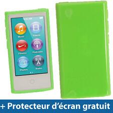 Vert Étui Housse Case TPU pour Nouveau Apple iPod Nano 7ème Génération 7G 16GB