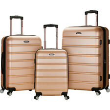 ef365c426 Rockland Luggage Melbourne 3-Piece Hardside Spinner Luggage Set NEW