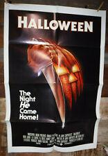 "VINTAGE HALLOWEEN 1978 ORIGINAL MOVIE POSTER 27""x41"" ONE SHEET NICE L@@K"