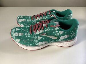 NEW Brooks Revel 3 Run Merry Ugly Sweater Christmas Women's Shoes - Sz 8.5