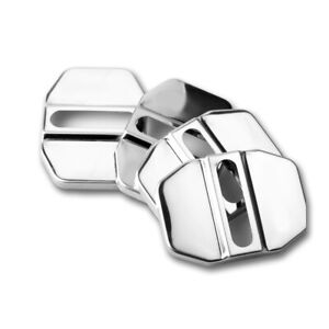 Auto Decorative Stainless Steel Door Lock Protective Cover Universal Accessories