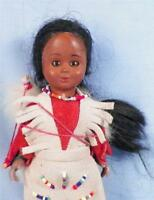 Native American Indian Doll Squaw & Baby in Papoose Bow Hard Plastic Vintage