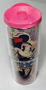 Retro Style Minnie Mouse - 24oz. Tervis Double Wall Cup/Tumbler  w/ Pink Lid