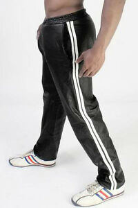 Men's Real Leather Jogging Pants Leather Sports Pants Workout Pants IN 8 COLORS