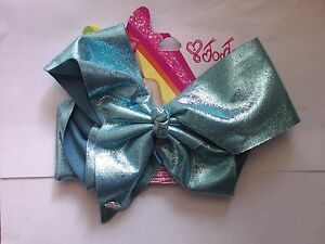 JOJO SIWA LARGE GLITTER EFFECT BLUE HAIR BOW