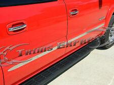 2007-2013 GMC Sierra Crew Cab Chrome Flat Body Side Molding 4Pc