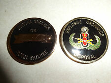 CHALLENGE COIN EOD EXPLOSIVE ORDNANCE DISPOSAL INITIAL SUCCESS TOTAL FAILURE MAS