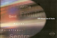 1999 Nissan Cars & Trucks - Dealer Sales Brochure - Maxima Altima Sentra Quest