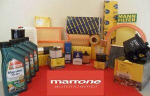 Kit tagliando filtri+olio motore CASTROL GTX FIAT 600 SEICENTO CC 1.1 98>40KW 54