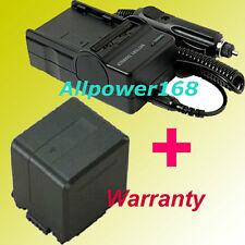 BATTERY pack + Charger FOR PANASONIC VW-VBG260 VW-VBG130 HDC SDR-H60 SDR-H40