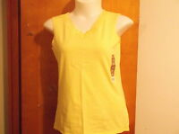 "BRAND NEW ""WHITE STAG""  LACE TRIM TANK TOP  in a BRIGHT YELLOW  COLOR"
