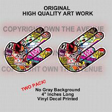 x2 Shocker Sticker Bombing Pack lot Vinyl Decal JDM Motocross (2PKshckerOG)