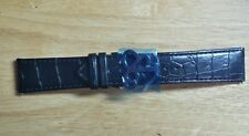 Jacob & Co Black Leather Strap 22 mm Band Bracelet for 47 mm Watch