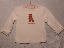 """Gymboree """"Lots of Dots"""" Ivory Trick or Treat Pumpkin Puppy Top, 18-24 mos."""
