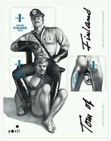 Tom of Finland, Finnish 1st-Class Stamps, sheet of 3, pride, gay interest, MNH