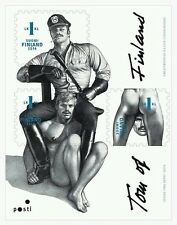 Tom of Finland, Finnish 1st-Class Stamps, sheet of 3, gay pride interest, MNH