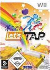 Nintendo Wii +Wii U LETS TAP * 5 GAME PARTY SPIELE Neuwertig