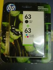 Genuine HP 63 Black and Tri Color Ink Combo L0R46AN NEW Exp 2019